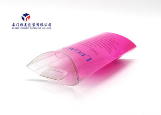 Plastic Pillow Boxes PET Box For Cosmetic Product Offset Printing Hang Strip On Top